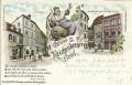 Wien I : Gruß aus dem Reichenberger Beisl Griechengasse Bier, Bierfass, Reblaus