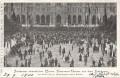 Wien I : Gruß von der Feldmesse der Wiener Veteranen Vereine beim Rathaus 1900