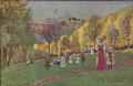 Wien: XIX. Bezirk: Gruß vom Kahlenberg Kunstkarte mit Postablage Kahlenberg 1916