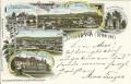 Wien XVII : Gruß aus Dornbach Litho 1899 Waldschnepfe, Haus Hummel, Neuwaldegg