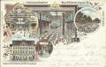 Wien XVII : Gruß aus Hernals Litho 1898 Jörgerstrasse 26 Etablissment Stalehner
