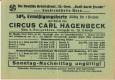Wien II : Eintrittskarte Zirkus Hagenbeck Renzgebäude Cirkusgasse 44 Gaustelle Wien NS Kraft durch Freude