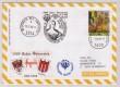 50. Sonder Ballonpost Neuhofen an der Ypps 25.10.96 b: OE-ZCP-PSK UNO Pro Juventute