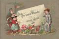 Die besten Wünsche zum neuen Jahre 1878 ( kleinere Originle Glückwunschkarte )