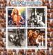 Benin 2003:  Led Zeppelin  Block  mit Sonderstempel